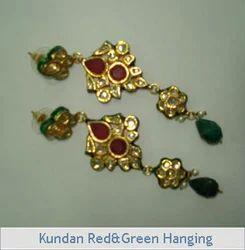Kundan Red & Green Hanging