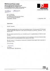 After Sales Service Appreciation Certificate