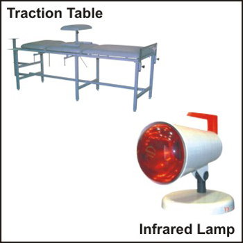 Traction Table Infrared Lamp