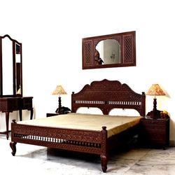 Hand Carved Ethnic Bedroom Furniture