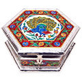 embellished extravaganza white metal jewelry box