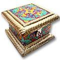 treasure case white metal jewelry box
