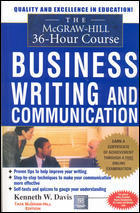 The MCGraw-hill 36-hour Course In Business Writing