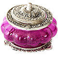 purple charm metal jewelry boxes