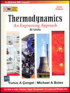 Thermodynamics An Engineering Approach SI Units SIE